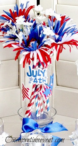 Fourth of july vase DIY