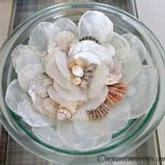 diy seashells centerpieces