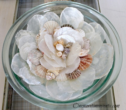DIY Seashell Centerpieces