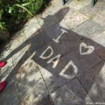 DIY Fathersday Gift:  Silhouette 'I love Dad' Photo