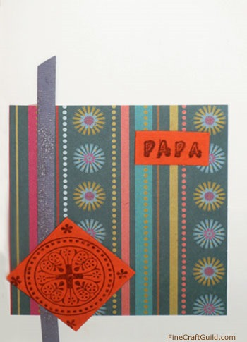 This Fathersday card is an easy DIY, w tutorial