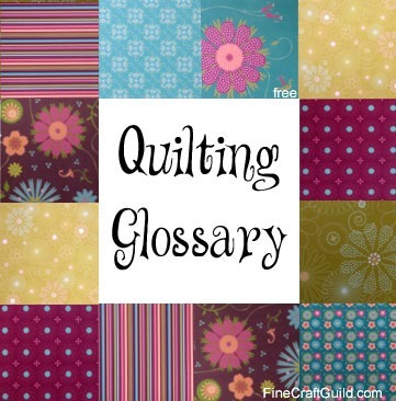 free  glossary with quilting terms