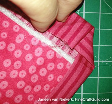 how to miter quilt corners