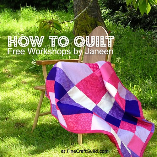 Free lap quilt sewing pattern and workshop at FineCraftGuild.com