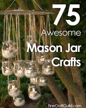 Mason jar crafts garden chandelier :: FineCraftguild.com