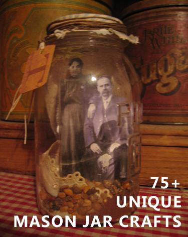 unique mason jar crafts family album
