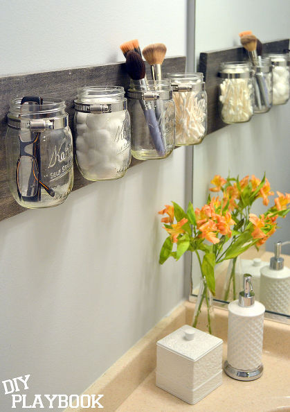 mason jar organizer mason jars organizing repurposing upcycling