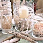 summer nautical home decorations with-driftwood and shells - FineCraftGuild.com