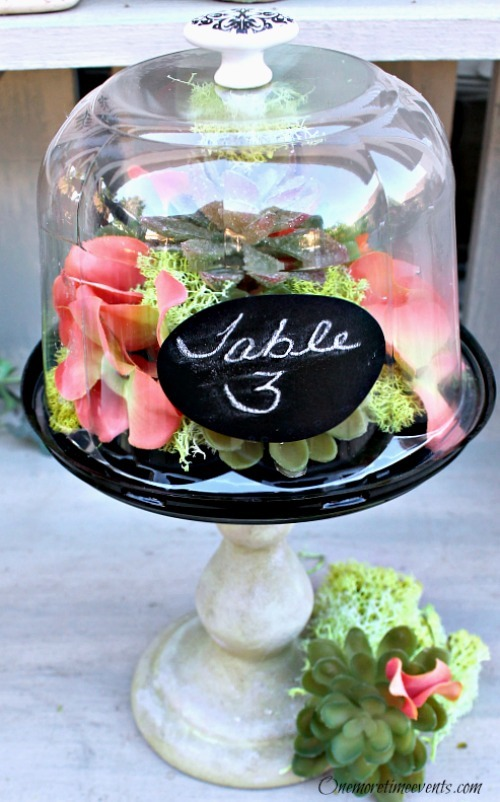 Dome chalk board lable