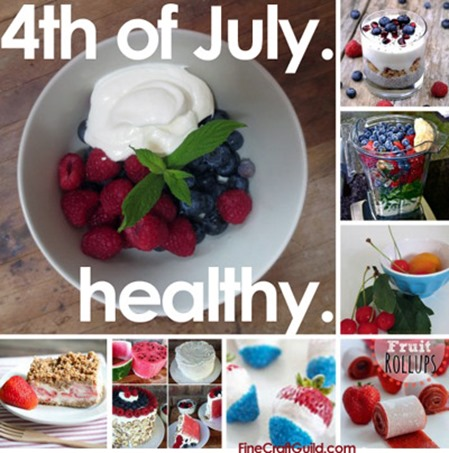 Healthy 4th of July Desserts w Strawberries and other Fruit
