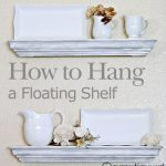 how to hang a floating shelf :: FineCraftGuild.com