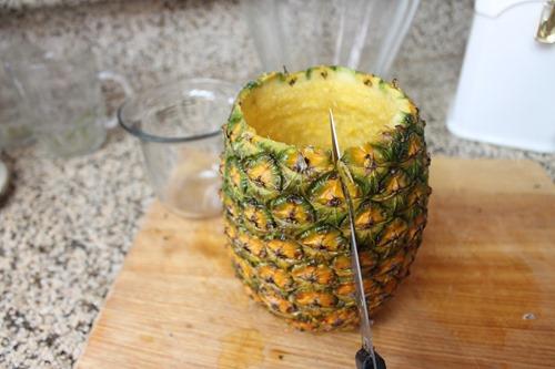 pineapple vase table vignette diy