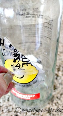 Lemonade bottle sticker