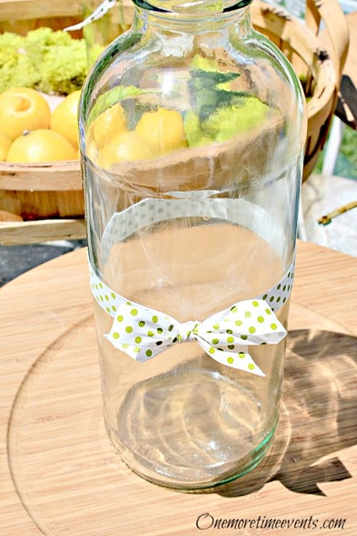 Lemonade bottle with ribbon