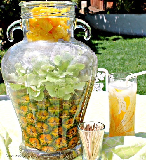 Glamorous DIY Pineapple Centerpiece :: FineCraftGuild.com
