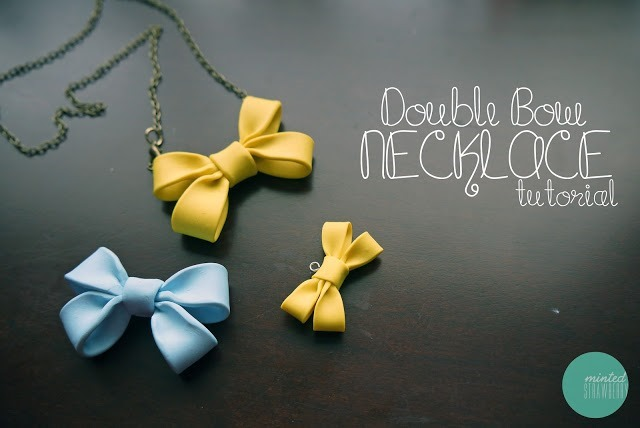 How to Make Decoden Bow Necklaces