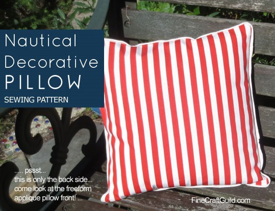 Nautical Decorative Pillows – Sewing Pattern