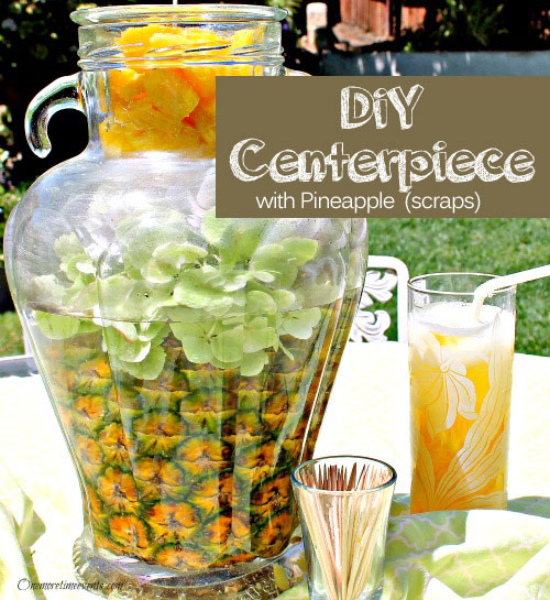 Glamour DIY Pineapple Centerpiece