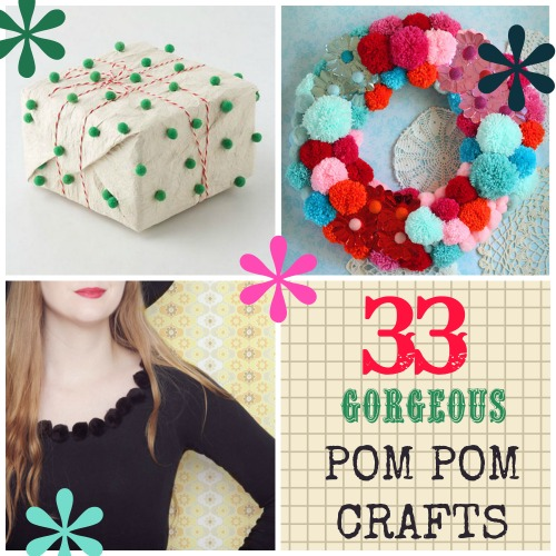33 Trendy Pom Pom Crafts
