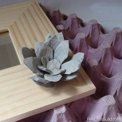 Recycled egg carton roses_mirror tutorial :: FineCraftGuild.com