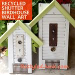 recycled shutters birdhouses