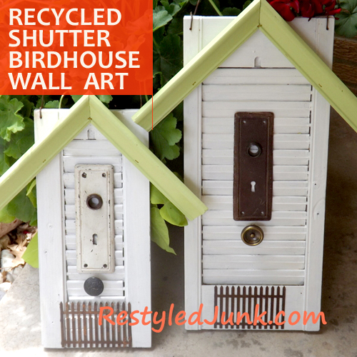 recycled shutters birdhouses DIY