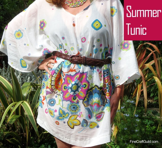 white tunic summer dress sewing pattern