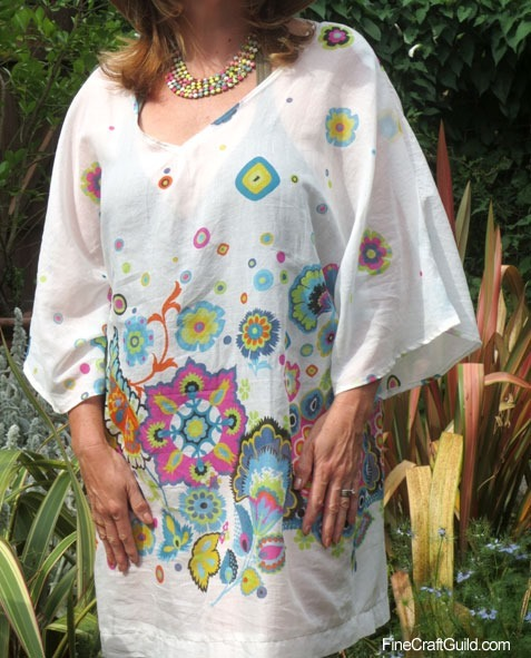 White Tunic Summer Dress SEWING PATTERN :: Fine Craft Guild