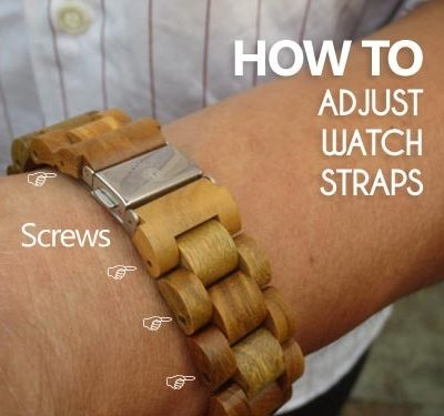 How to Adjust the Straps on Wooden Watches