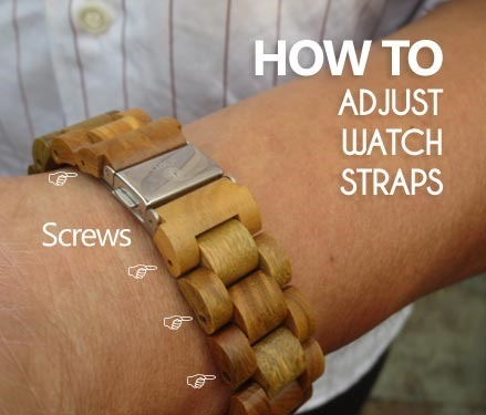 how to adjust wooden watches straps