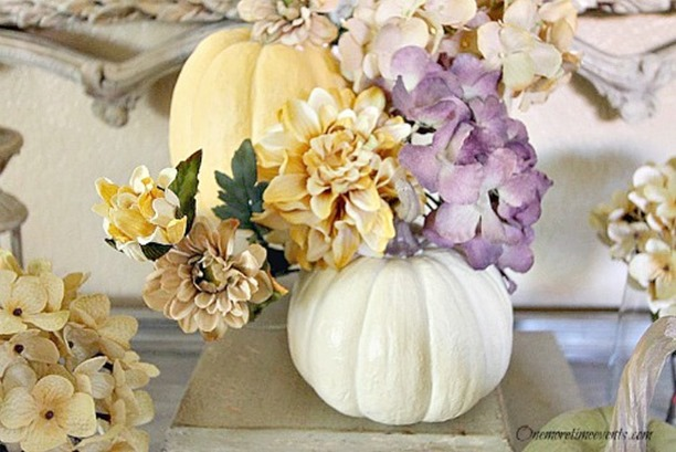 Easy Fall Centerpiece in Pastels