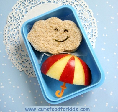 apple_umbrella_cloud_sandwich_school_lunch