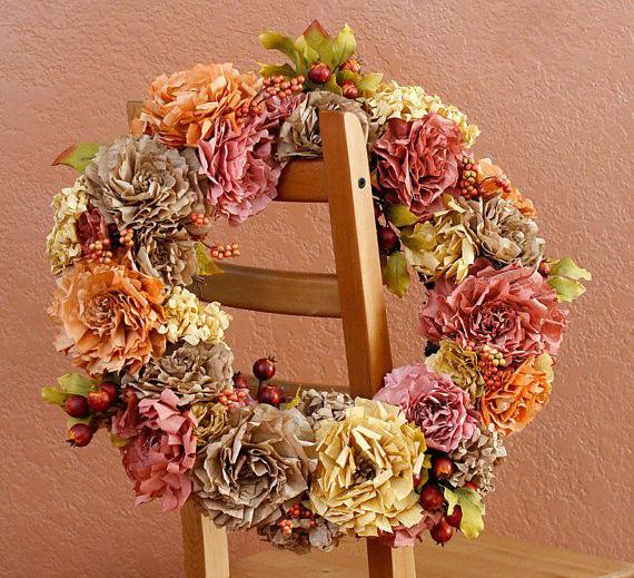 coffee filter flowers wreaths