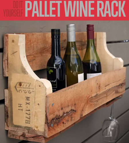 DIY recycled pallet wine rack :: FineCraftGuild.com