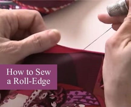 how to sew roll edges :: Free Bina Wrap Pattern + video tutorial :: Exclusive FineCraftGuild.com