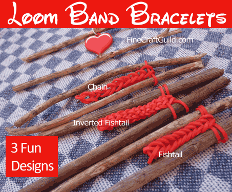 rubber band bracelets designs :: FineCraftGuild.com