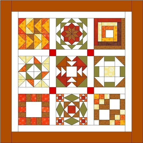 Fantastic Free Sampler Quilt Workshop! Starts next week at FineCraftGuild.com