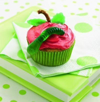 Back to School Treats :: apple cupcakes