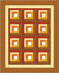 How to Make a Log Cabin Quilt Block :: Fine Craft Guild.com