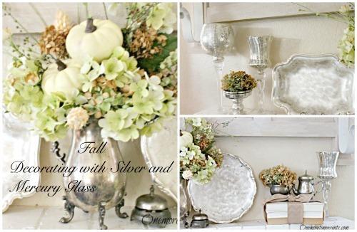 Easy Fall Mantel decorations :: Centerpiece :: FineCraftGuild.com