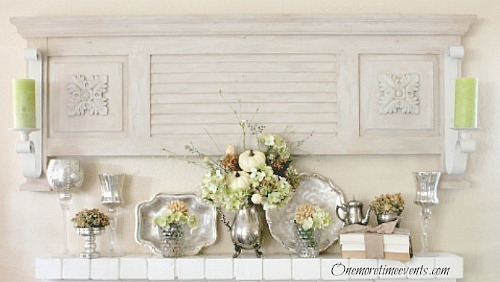 Easy Fall Mantel decorations :: Centerpiece :: FineCraftGuild.com