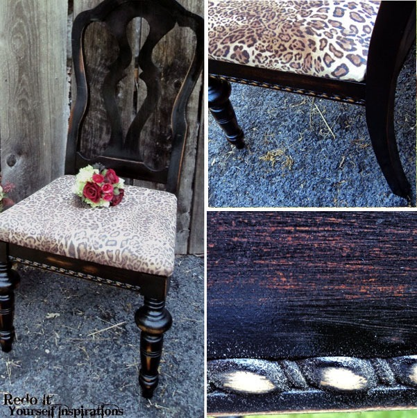 DIY animal print chair upholstery tutotrial :: FineCraftGuild.com