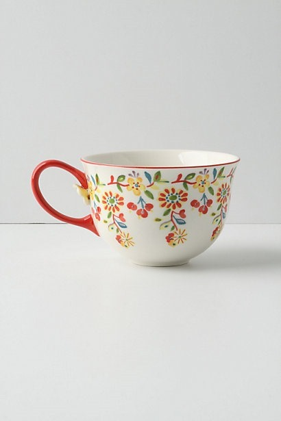 like anthropologie DIY French Country Kitchen Coffee Cups