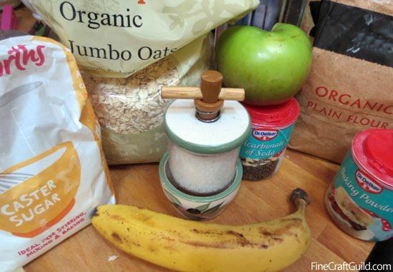 Ingredients Easy Organic Banana Oat Muffins :: FineCraftGuild.com