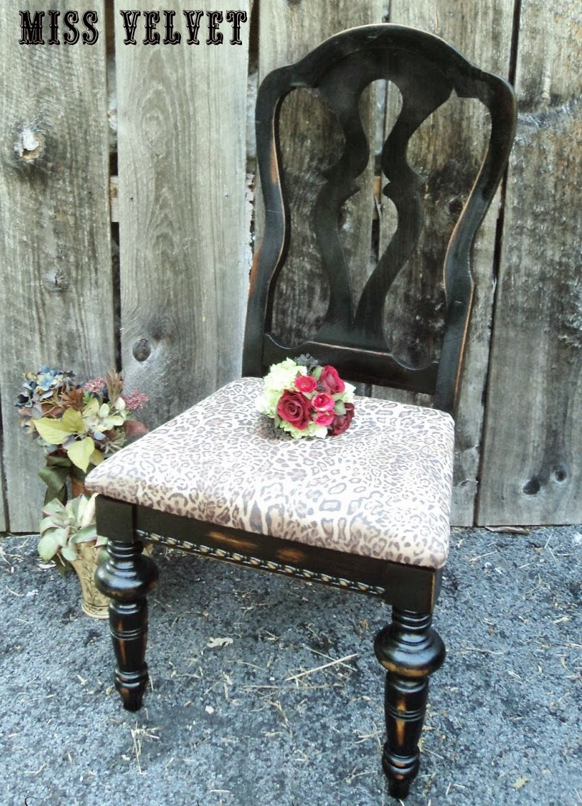 DIY animal print chair