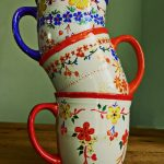 DIY hand painted ceramic mugs :: French Country Kitchen :: FineCraftGuild.com