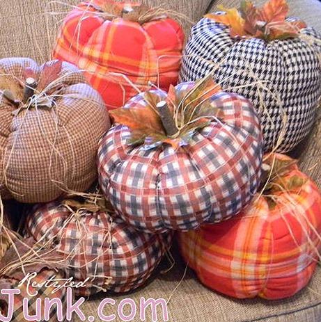 Fall Decorating Ideas :: DIY Fabric Pumpkins :: FineCraftGuild.com