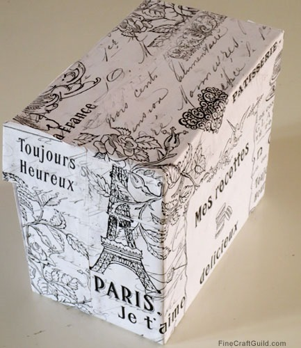 DIY Recipe Box + Vintage French Wrapping Paper (Freebie)