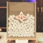 unique wedding guestbook_ frame with hearts - tutorial - FineCraftGuild.com