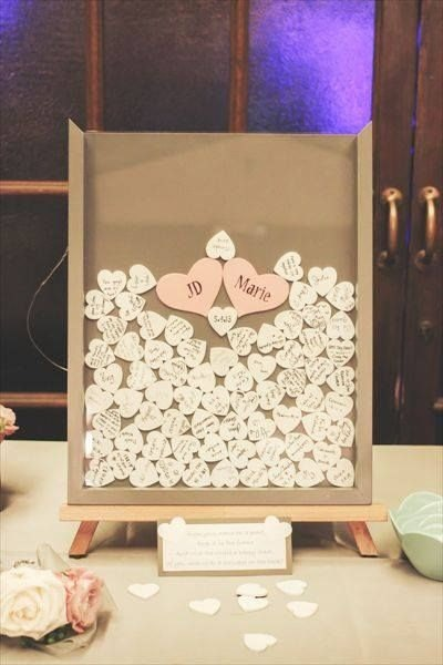 DIY Wedding Guest Book Frame w/ Hearts